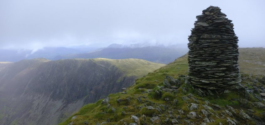 15.8.17 – Dale Head – Hindscarth – Robinson from Honister Pass, linear route