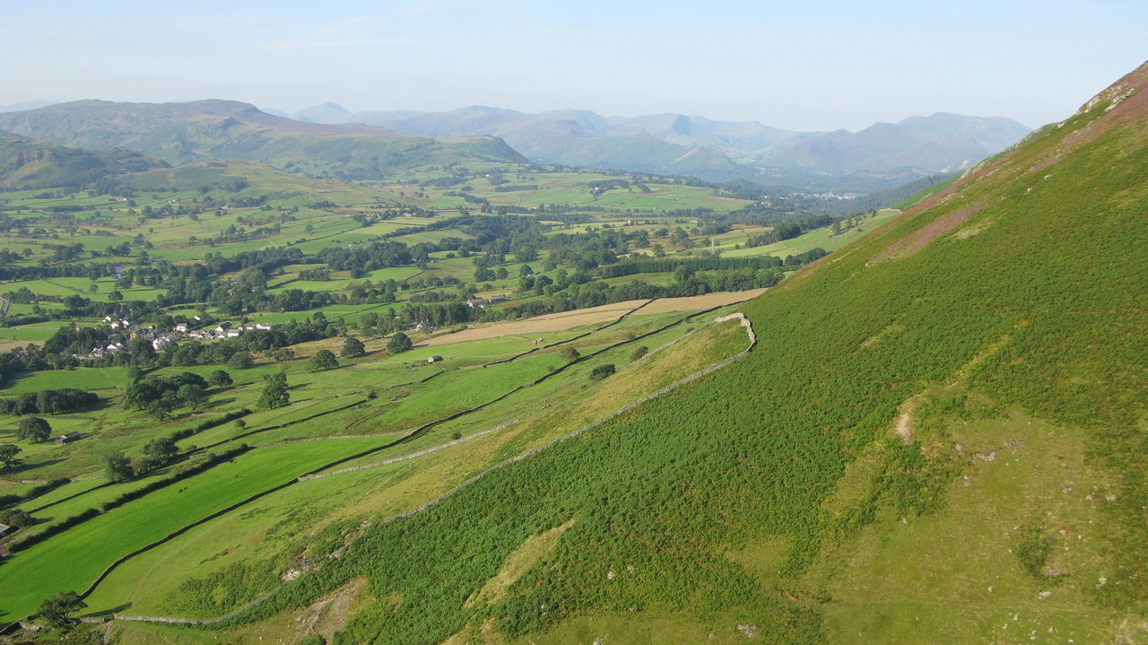 High Seat with the ridge leading down to Bleaberry Fell and Walla Crag