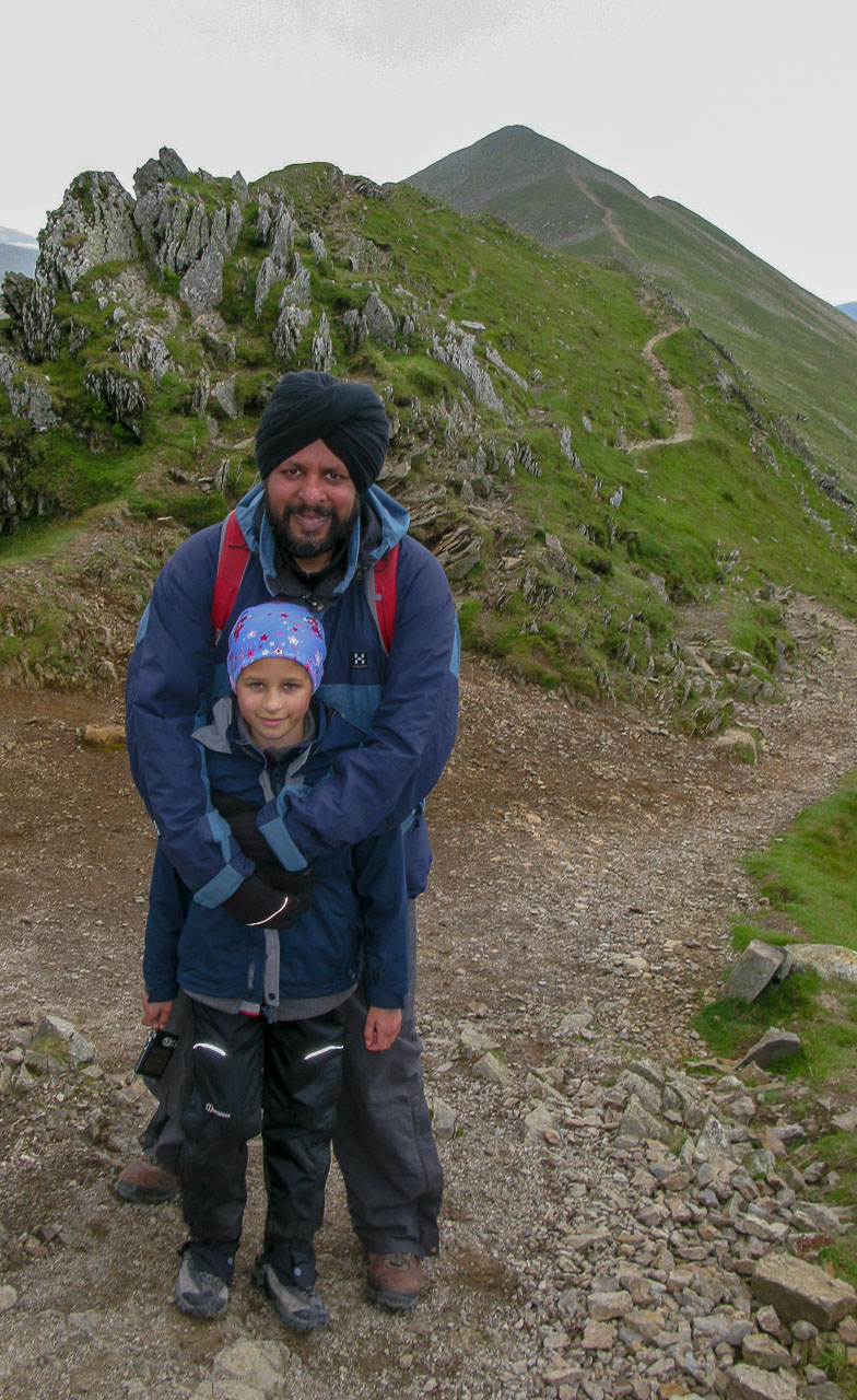 Pal and Mila at the start of Swirral Edge