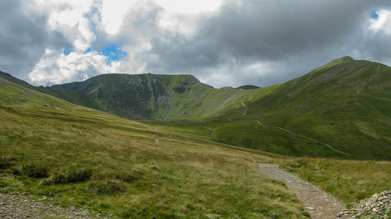 Helvellyn and Catstycam (on the right)